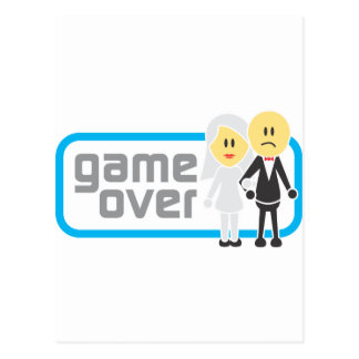 Game Over Marriage (Miis) Postcard