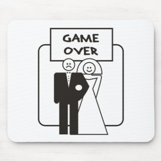 Game Over Marriage Mouse Pad