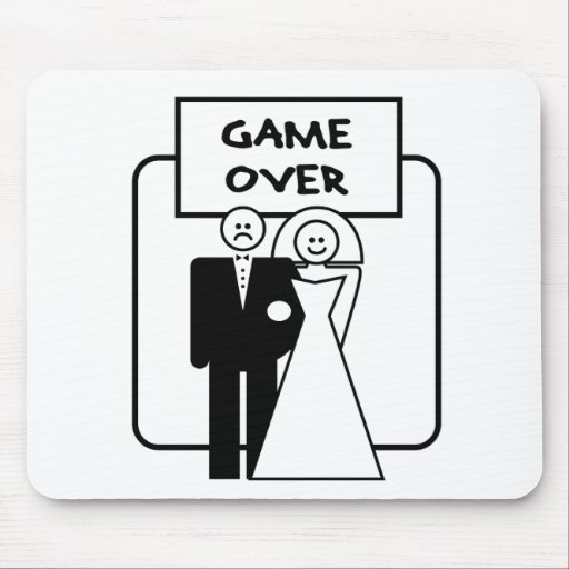"""Game Over"" marriage Mouse Pad"