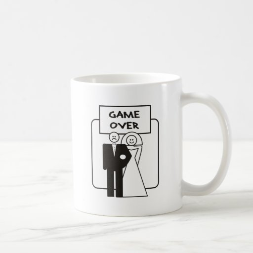 Game Over Marriage Mugs