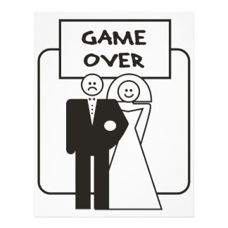 Game Over Marriage Personalized Flyer