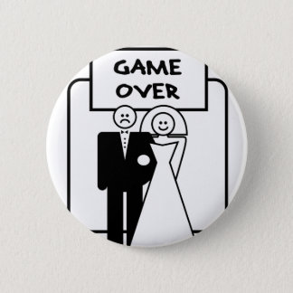 """""""Game Over"""" marriage Pinback Button"""