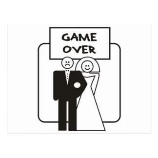 Game Over Marriage Post Cards