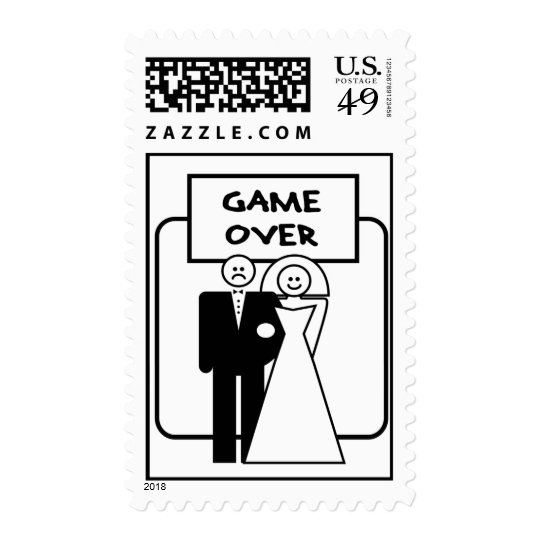 """""""Game Over"""" Marriage Postage"""