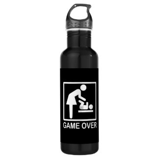Game Over Mom Funny Pictogram Water Bottle