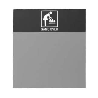 Game Over Mom Humorous Pictogram Memo Note Pads