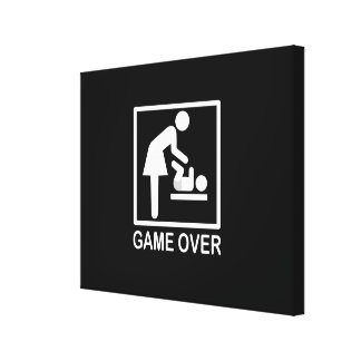 Game Over Mom Humorous Signage Canvas Print