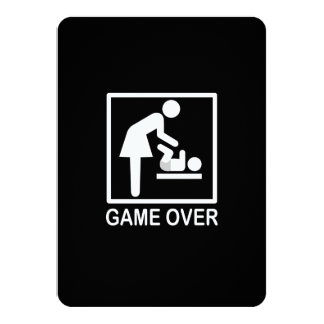 Game Over Mom Humorous Signage Card