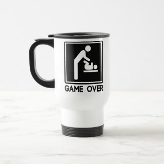 Game Over New Baby for Parent Dad 15 Oz Stainless Steel Travel Mug