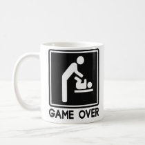Game Over New Baby for Parent Dad Coffee Mug