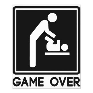 Game Over New Baby for Parent Dad Flyer Design