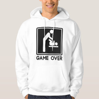 Game Over New Baby for Parent Dad Hooded Pullover