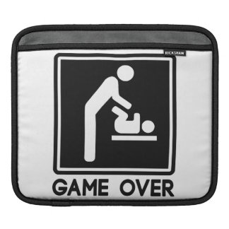 Game Over New Baby for Parent Dad iPad Sleeve