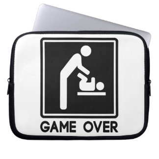 Game Over New Baby for Parent Dad Laptop Sleeve