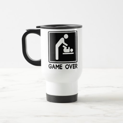 Game Over New Baby for Parent Dad Mugs