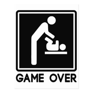 Game Over New Baby for Parent Dad Postcards
