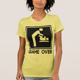 Game Over New Baby for Parent Dad Shirt