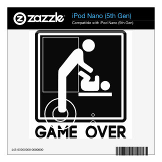 Game Over New Baby for Parent Dad iPod Nano Skin