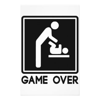 Game Over New Baby for Parent Dad Stationery