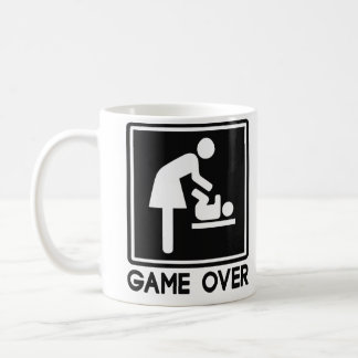 Game Over New Baby for Parent Mom Classic White Coffee Mug