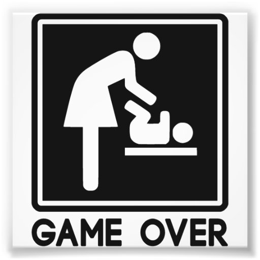 Game Over New Baby for Parent Mom Art Photo