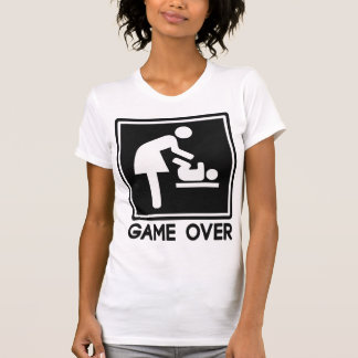 Game Over New Baby for Parent Mom Tshirts