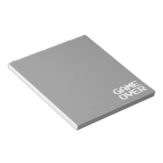 Game Over Memo Pads