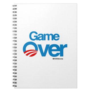Game Over Obama Spiral Notebook