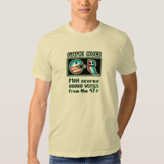 Game Over Obama-Romney Campaign T-Shirt