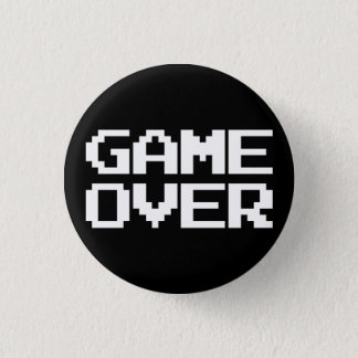 Game Over Pinback Button