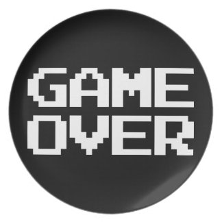 Game Over Plate