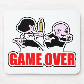 Game Over Player Mouse Pad