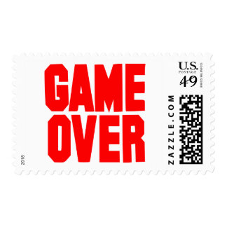 Game over postage stamp