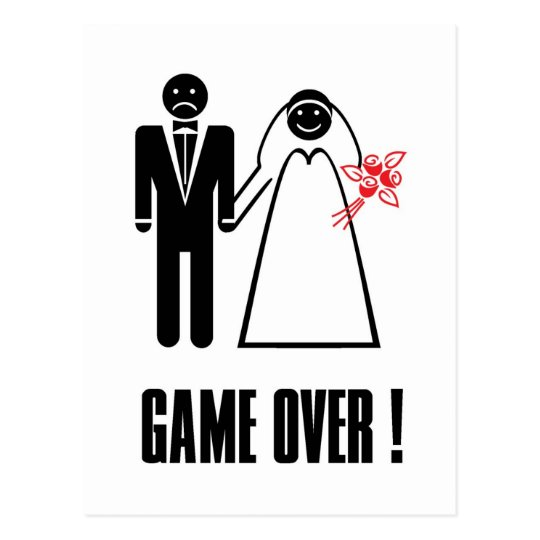 GAME OVER Postcard Thank you Invitation card