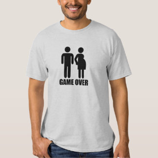 Game over Pregnancy Tee Shirts