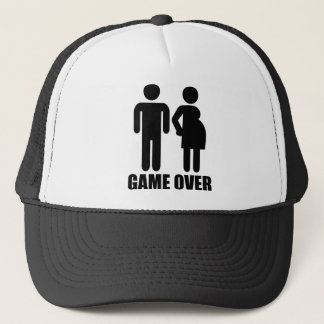 Game over Pregnancy Trucker Hat