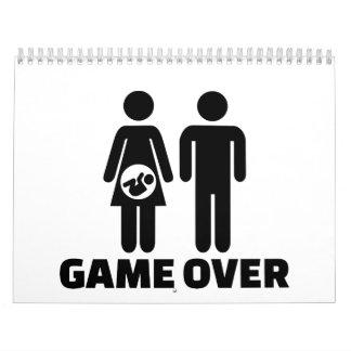 Game over pregnant baby calendar