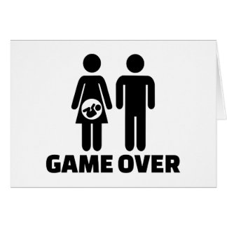 Game over pregnant baby greeting card