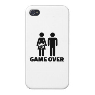 Game over pregnant baby iPhone 4/4S covers