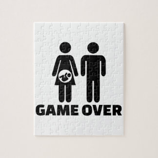 Game over pregnant baby jigsaw puzzle