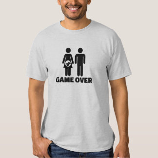 Game over pregnant baby shirts