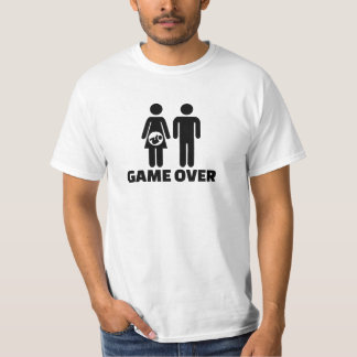 Game over pregnant baby t shirt