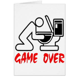 Game Over Puking Card