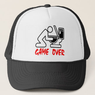 Game Over Puking Trucker Hat