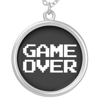 Game Over Round Pendant Necklace