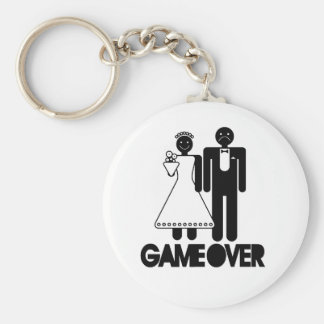 Game Over - Sad Groom Funny Key-chain Basic Round Button Keychain