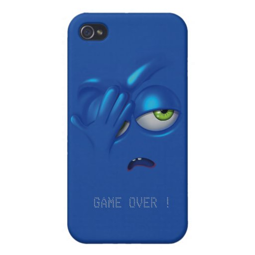 Game Over Smiley Emoticon Face iPhone 4 Case