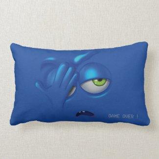 Game Over Smiley Emoticon Face Pillow