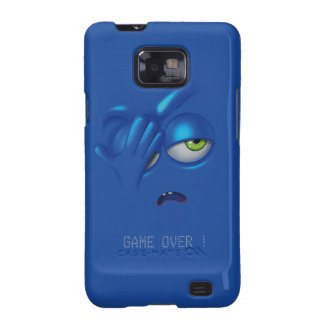 Game Over Smiley Emoticon Face Samsung S2 Galaxy SII Cases