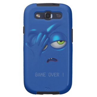 Game Over Smiley Emoticon Face Samsung S3 Galaxy SIII Case